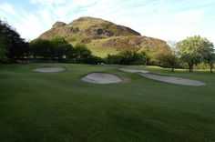 Preston field golf course in the shadow of Arthur's seat Edinburgh . 2017