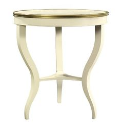 $1125 - Again - disregard finish - we'd do french gray - East Paces Side Table from the Suzanne Kasler collection by Hickory Chair Furniture Co.