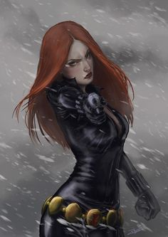 The Black Widow by rosythorns. I like the fan art that shows Natasha's edginess, rather than the typical busty provocative drawings.