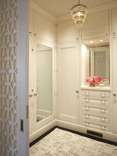 Perfect sized chandelier for master closet.