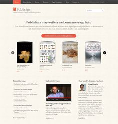Publisher is an ideal WordPress eCommerce  Theme for book authors and digital product publishers to showcase & sell their creative works such as ebooks, DVDs, Audio CDs, paintings etc