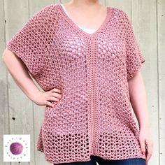 Learn to Make this Easy Cotton Crochet Top in Just a Few Hours! - YarnHookNeedles - YarnHookNeedles