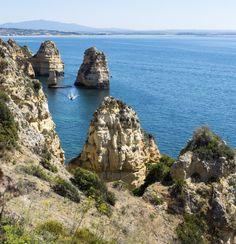 View from Ponte Da Piedade in Lagos Town, second largest tourist town in Algarve. Full of gorgeous beaches, cliffs and caves.