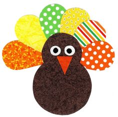 Iron on turkey applique DIY by patternoldies on Etsy, $4.50