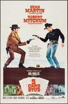 """Movie Posters:Western, 5 Card Stud (Paramount, 1968). One Sheet (27"""" X 41""""). Western.. ... Image #1"""