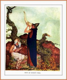 1922 Pogany - Odin at Mimir's well - The Children of Odin - by Padraic Colum - illustrations by Willy Pogany | Flickr – Compartilhamento de fotos!