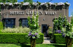 """Detroit Garden Works - Incredible storefront """"curb appeal"""" using flowers and gardens to achieve it!  There is NO BETTER WAY to advertise and promote your business than by making it look EXTRAordinary to all the passers by.  Incredible!"""