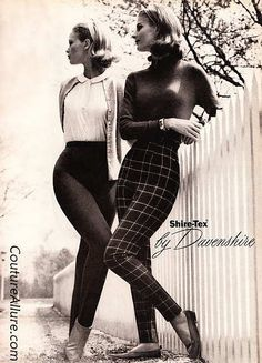 Vintage Fashion: Skinny 1960 Cigarette Pants