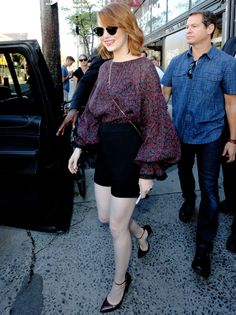 Emma Stone Leaving the Variety Studio during the 2016 Toronto Film Festival - Emma Stone Style Emma Stone Style, Toronto Film Festival, Fashion Beauty, Womens Fashion, Musa, Great Women, Her Style, Casual Dresses, Celebrity Style