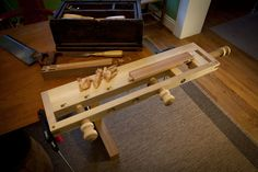 Portable workbench- for small spaces or travel/camping/reenactment