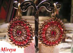 With this nice pattern from talanted Mireya u can make beautiful earrings as well as beautiful pendant!