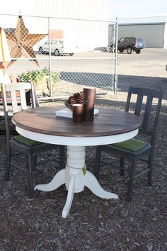 Distressed Kitchen Tables On Pinterest Red Kitchen Tables Country Kitchen Tables And