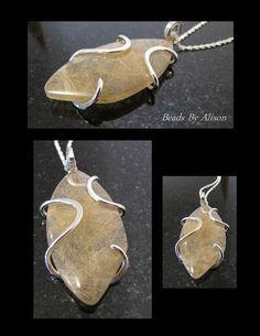 Rutilated Quartz sterling silver pendant Pendants - Beads By Alison