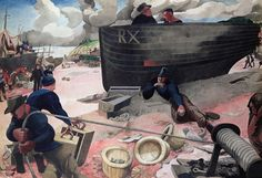 The Harbour, Hastings (1947) by Edward Burra