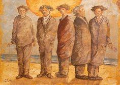 Giampaolo Talani Cinque uomini sulla spiaggia