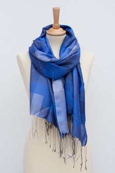 Gray-Denim-  Navy blue Infinity -Scarf-Winter Accessories-Loop Scarf- Huge scarf