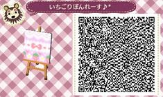 Animal Crossing: New Leaf Usamomo village diary ♪ * pink wallpaper Toka carpet ♪ ☆