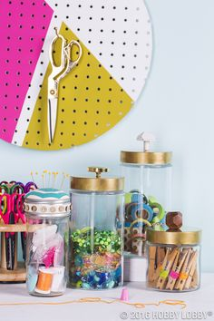 A shipshape space doesn't need to sacrifice utility for style. Create a chic place for everything with glass containers!