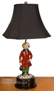 Foxhound Porcelain Table Lamp Lamps - Lamps - By Artistic Porcelain at Horse and Hound Gallery