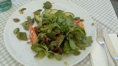 Avocado-Salat im Restaurant am Chinesischen Turm in München. Lust Restaurants zu testen und Bewirtungskosten zurück erstatten lassen? https://www.testando.de/so-funktionierts