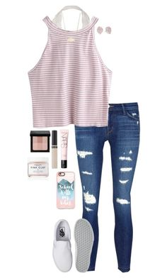 summer was fun while lasted by gabyleoni on Polyvore featuring polyvore, fashion, style, J Brand, Vans, Kendra Scott, Casetify, Bobbi Brown Cosmetics, NARS Cosmetics, Revlon, Herbivore and clothing