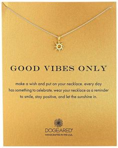 "Dogeared Good Vibes Only Sun Pendant Necklace, 16"" from Amazon. Saved to Bra and underwear. #mothersday #mom #needsthis."