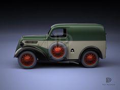 A Garagem Digital de Dan Palatnik   The Digital Garage Project: 1950 Ford 5cwt van