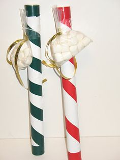 Marshmallow Shooters Use A Decorated Pvc Tube Fill With Cocoa And Attach A Small Baggie Of Mini Marshmallows