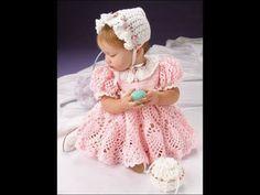 Vintage baby girl crochet set