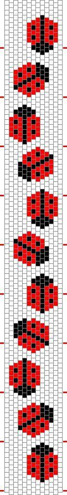 I modelli di grafici -piccola ripete in peyote - Beadwork