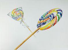 막대사탕 Candy Art, Eye Candy, Art Sketches, Art Drawings, Airbrush Art, Realistic Drawings, Marker Art, Food Illustrations, Stone Jewelry