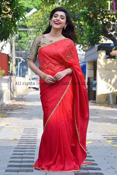 Half Saree, Indian Designer Wear, Looking For Women, Silk Sarees, Blouse Designs, Sari, Womens Fashion, How To Wear, Embroidery