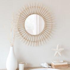 Espejo redondo de bambú D. 55 | Maisons du Monde