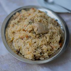 Recipe for Tamilnadu Style Chicken Biriyani. Very delicious. With step by step pictures.