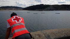 Voluntarios/as de Cruz Roja del Mar de Arriluze y Cruz Roja Bermeo cubriendo Regatas de Trainerillas en Plentzia