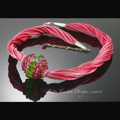 SALE - Candy Pink Beaded Bead Necklace, Beadweaving on Etsy, $84.58 AUD