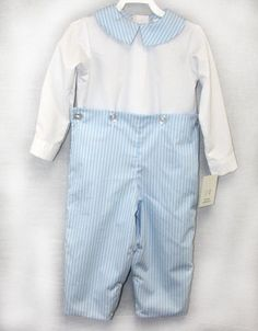 291586 - Baby Clothes - Button-On Romper - Childrens Clothing - Boys Pants - Boy Trousers -Boys First Christmas Outfit - Boys First Birthday