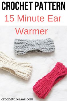 The 15 minute crochet ear warmer free pattern is a quick and simple make. The DIY tutorial shows you how to make this chunky ear warmer headband for women that is fit for any beginner. This elegant accessory comes in kid, teen, adult sizes. Quick Crochet, Chunky Crochet, Learn To Crochet, Crochet For Kids, Free Crochet, Beginner Crochet, Crochet Granny, Crochet Ideas, Crochet Projects