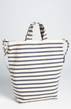 love love love this canvas stripe tote
