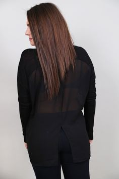 Black Out Long Sleeve Tunic - The Rage - 3