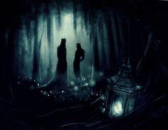 Forgotten lantern by Kinko-White.deviantart.com on @deviantART  (Thranduil & Legolas)