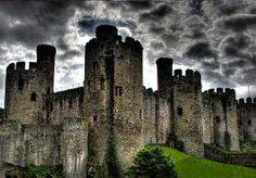 Between 1000 - 1400, dozens, if not hundreds of castles were built in Wales.  With the advent of gunpowder and cannons, their primary purpose became obsolete, so they were abandoned.  Here is one of the most Gothic examples.