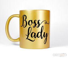 Boss Lady Mug Gold Desk Accessories Entrepreneur Gift For Her Home Office Coffee Mug Hustle Gold Mug Unique Women& Gift for Boss Mug USD) by MostToastyGoods Boss Lady Mug, Boss Mug, Girl Boss, Gifts For Boss, Gifts For Her, Office Desk Organization, Ikea Office, Desk Office, Gold Desk Accessories