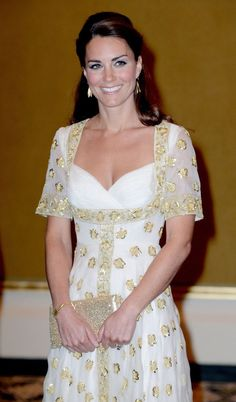 Dazzling Kate attends an official dinner given by His majesty, The Yang di pertuan, in yet another Alexander McQueen.