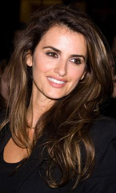 Penelope Cruz  - Dark Brown Hair with golden highlights