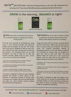 Oola Balance and Oola Grow #young living #essential oils  Please purchase oils from www.EssentialOilsEnhanceHealth.com