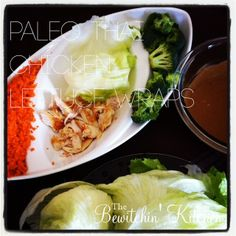 Thai Chicken Lettuce Wraps #Paleo Style