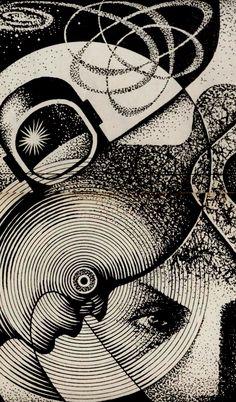 Nikolai Lutohin. Illustration for Galaksija. 1970s.