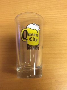 #Collectible beer glass mini  cup #queen city #brewing,  View more on the LINK: http://www.zeppy.io/product/gb/2/191710614704/