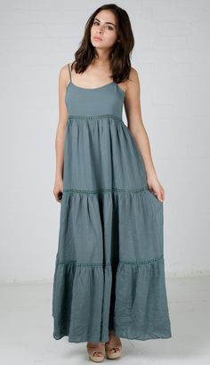 <p>Babydoll Tiered Maxi Dress</p> <p></p> <p>Details:<br />- 100% Rayon<br />- Hand wash cold<br />- Do not bleach<br />- Lay flat to dry<br />- Imported</p> $36.99
